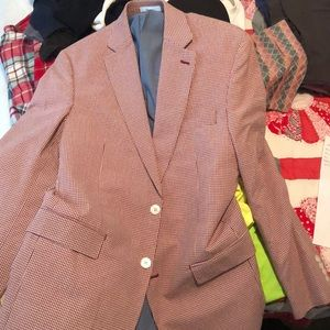 Ralph Lauren red checker lightweight blazer